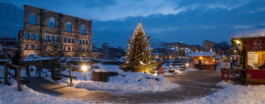 Weihnachtsmarkt Stadt Aosta